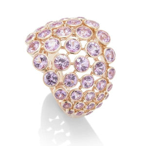 Pink Sapphire Rose Gold Ring - Charles Koll Jewellers