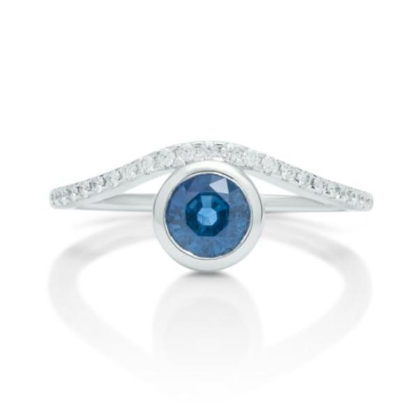 Sapphire and Diamond Impression Ring - Charles Koll Jewellers