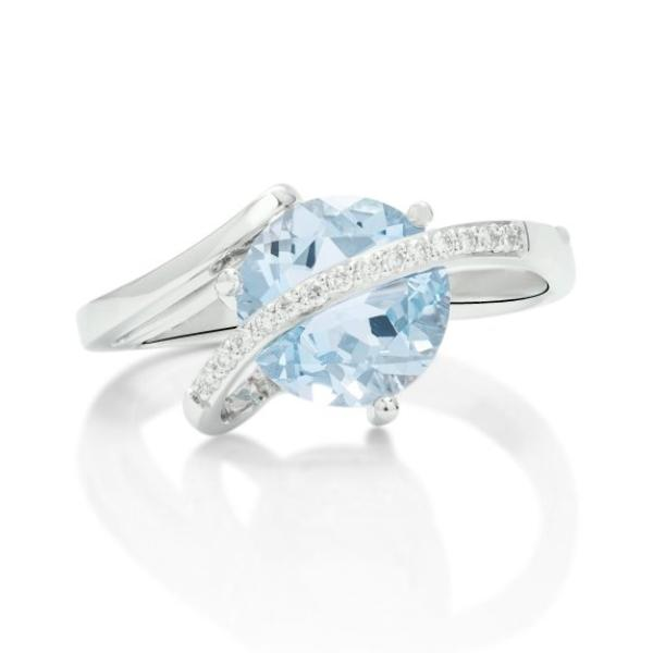 Aquamarine and Diamond Ring - Charles Koll Jewellers