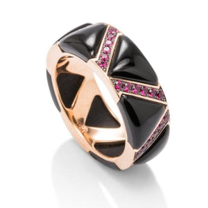 Onyx and Ruby Ring - Charles Koll Jewellers