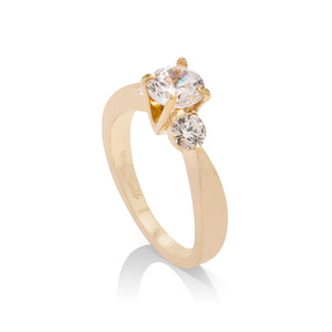 Diamond Trio Engagement Ring - Charles Koll Jewellers