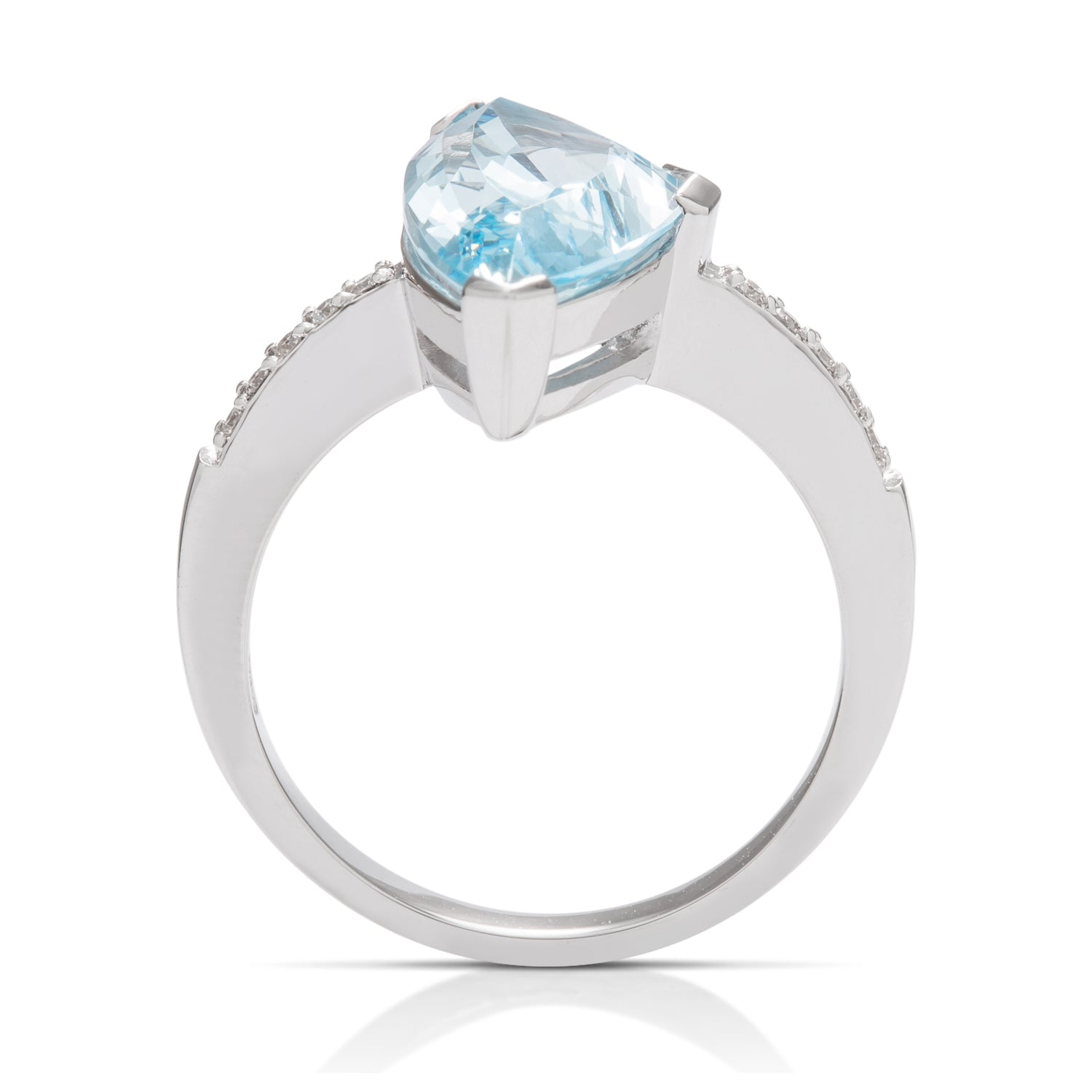Blue Topaz and Diamond Ring - Charles Koll Jewellers
