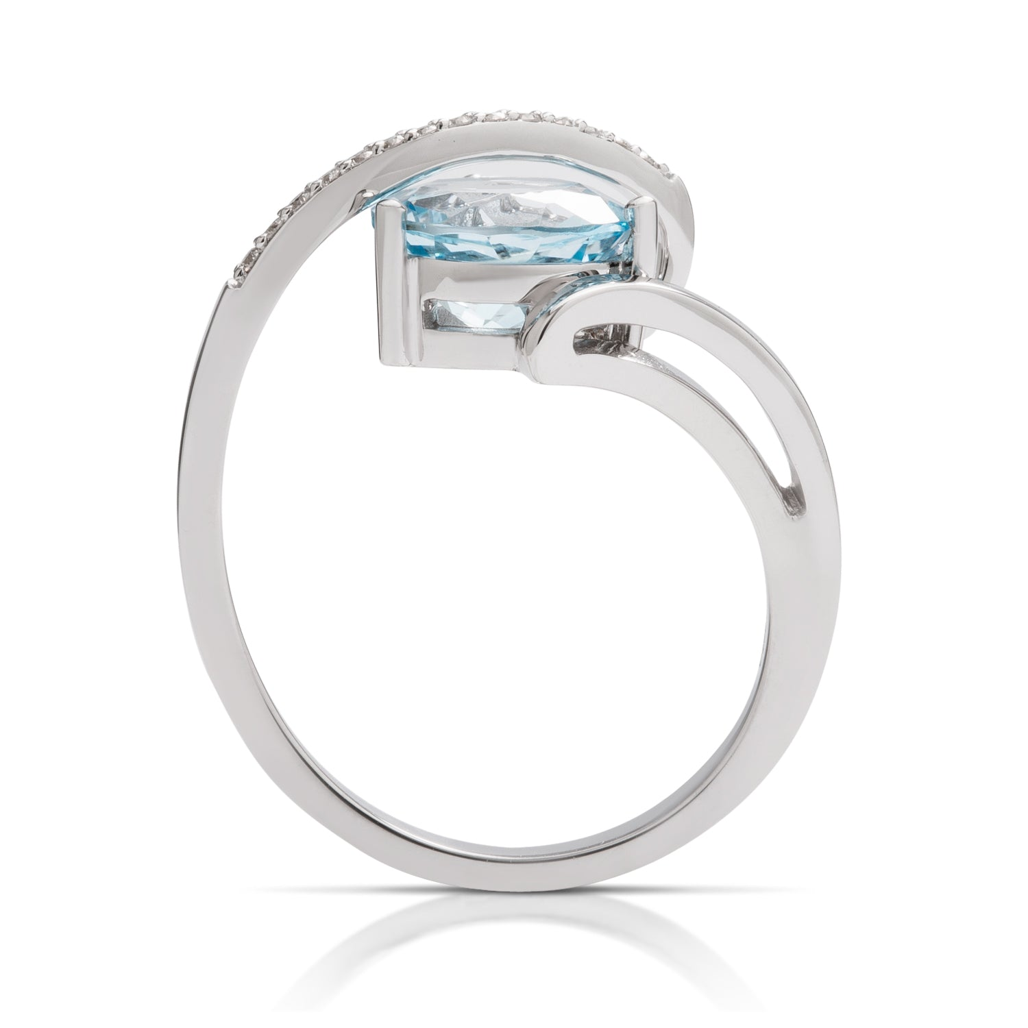 Brilliant Blue Topaz and Diamond Ring - Charles Koll Jewellers