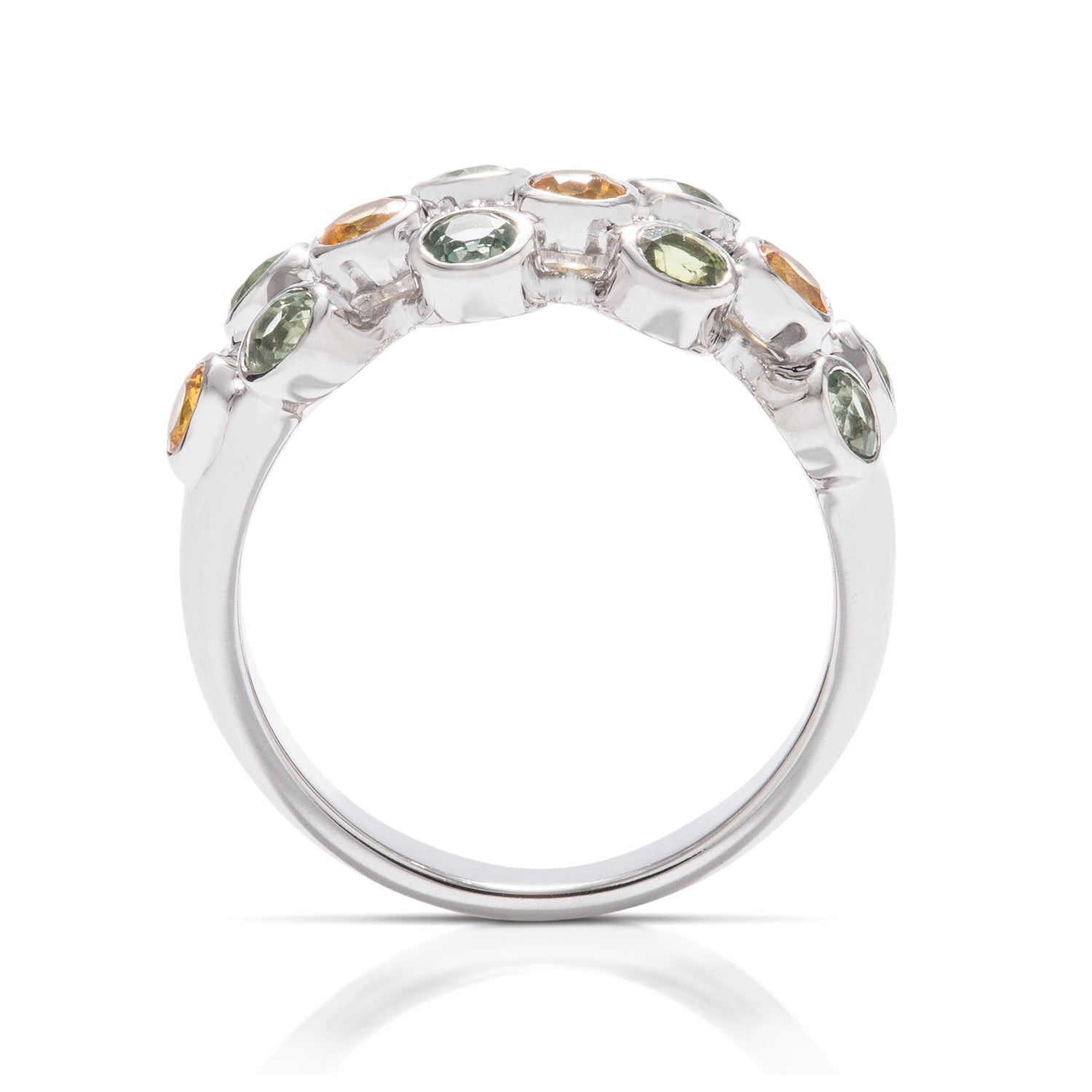 Multi-color Sapphire Bezel Ring - Charles Koll Jewellers