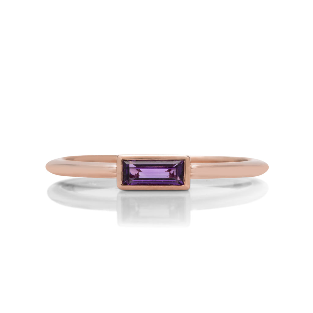 18k Rose Gold Amethyst Ring - Charles Koll Jewellers