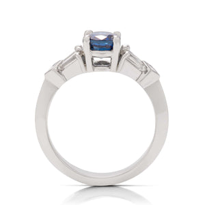 Sapphire and Diamond Engagement Ring - Charles Koll Jewellers