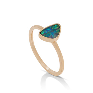 Triangular Australian Opal Ring - Charles Koll Jewellers