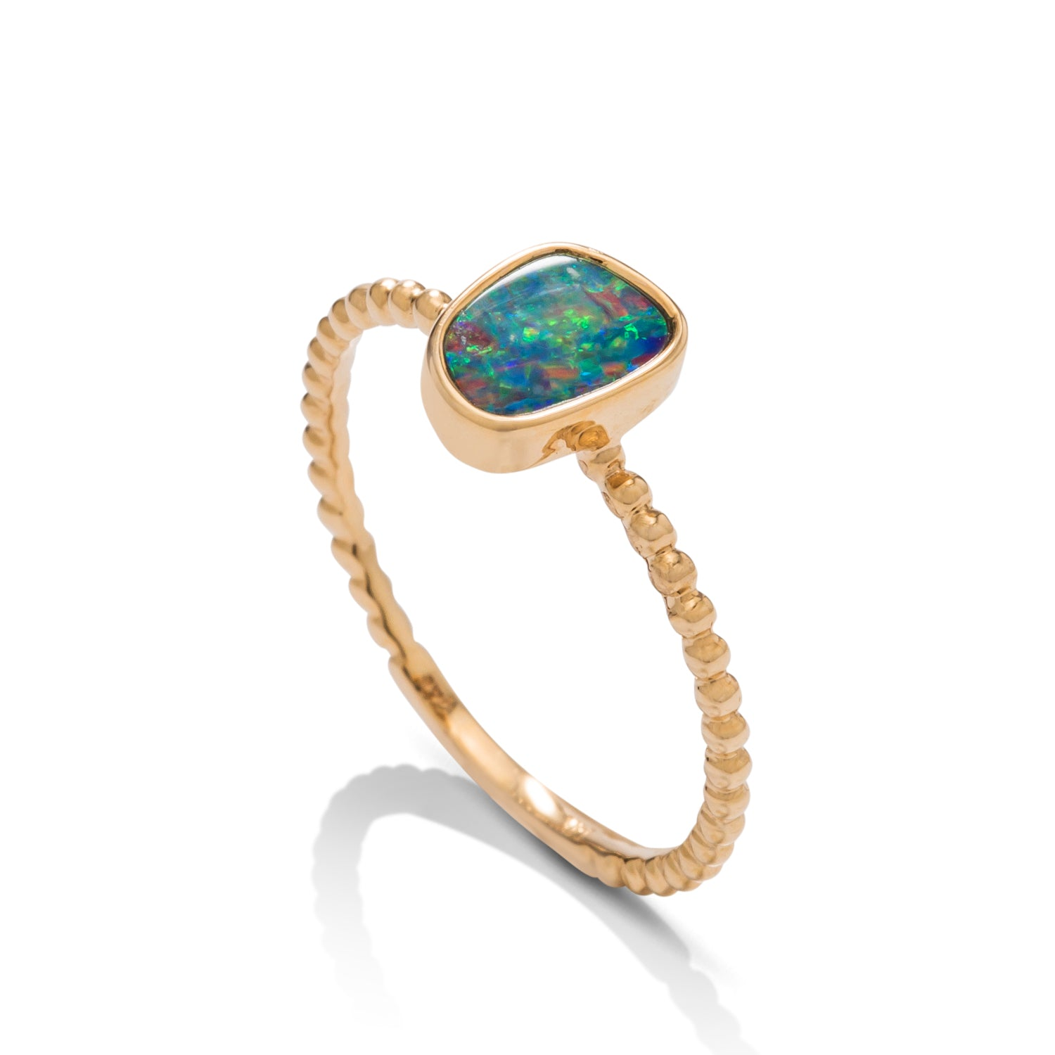 Australian Opal Beaded Ring - Charles Koll Jewellers