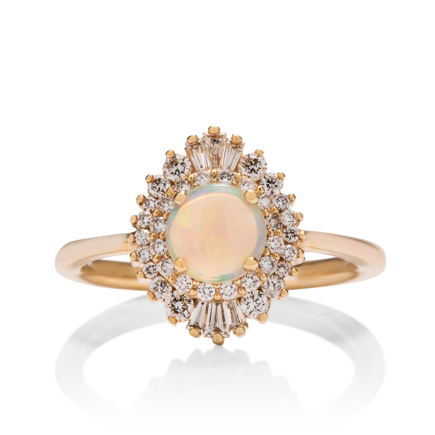 Opal and Diamond Baguette Ring - Charles Koll Jewellers
