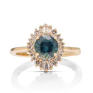 Montana Sapphire and Diamond Baguette Ring - Charles Koll Jewellers