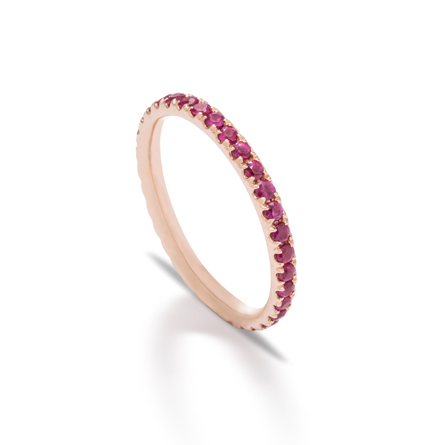 Ruby and Rose Gold Eternity Band - Charles Koll Jewellers
