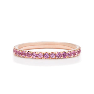 Pink Sapphire and Rose Gold Eternity Ring - Charles Koll Jewellers