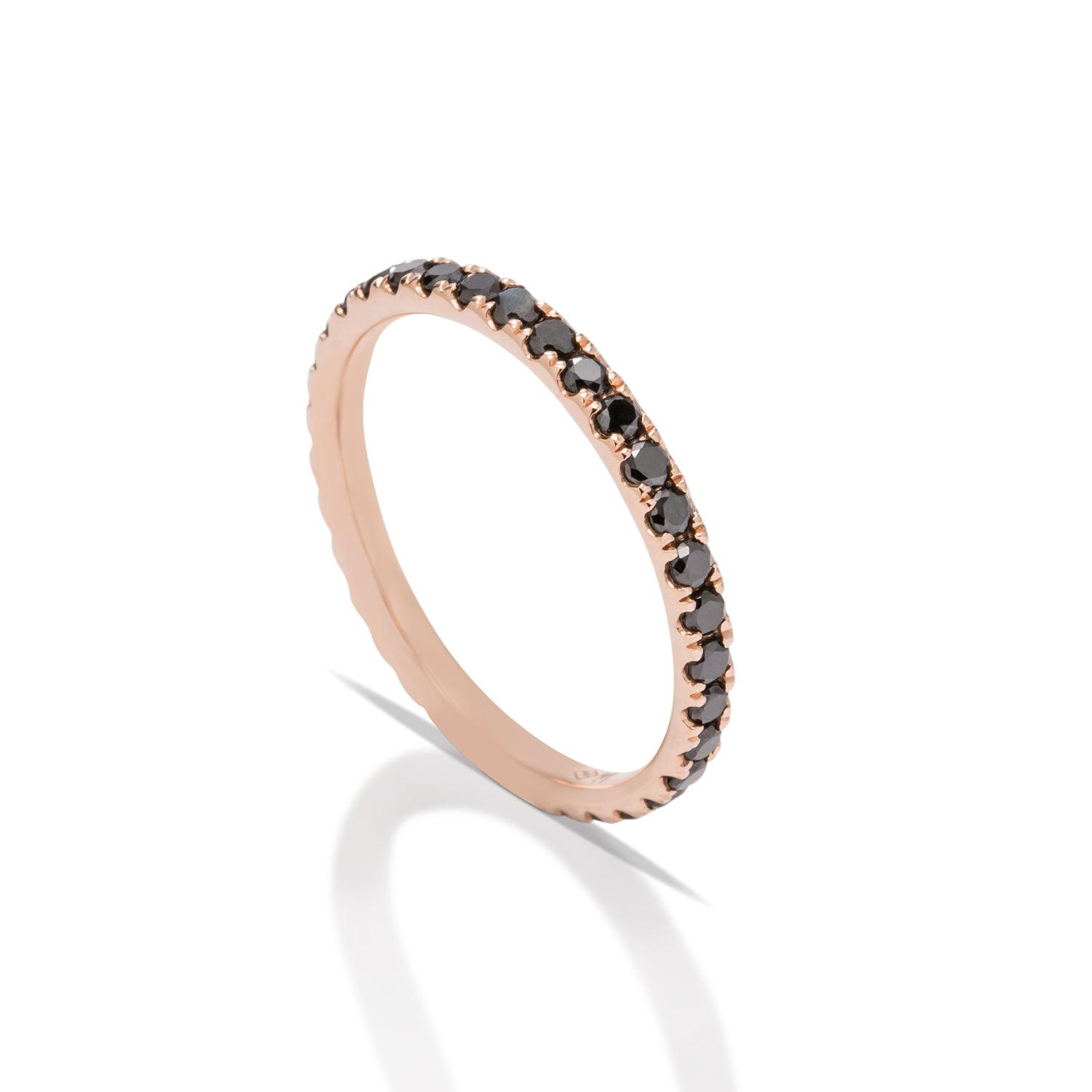 Black Diamond and Rose Gold Eternity Band - Charles Koll Jewellers