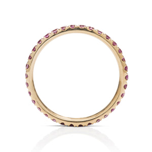 Purple Sapphire and Gold Eternity Ring - Charles Koll Jewellers
