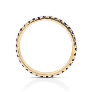 Sapphire and Gold Eternity Band - Charles Koll Jewellers