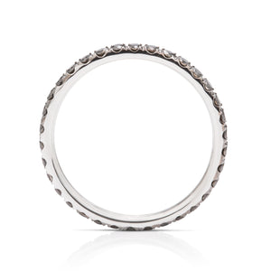 Black Diamond and White Gold Eternity Band - Charles Koll Jewellers