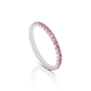 Ruby and White Gold Eternity Band - Charles Koll Jewellers
