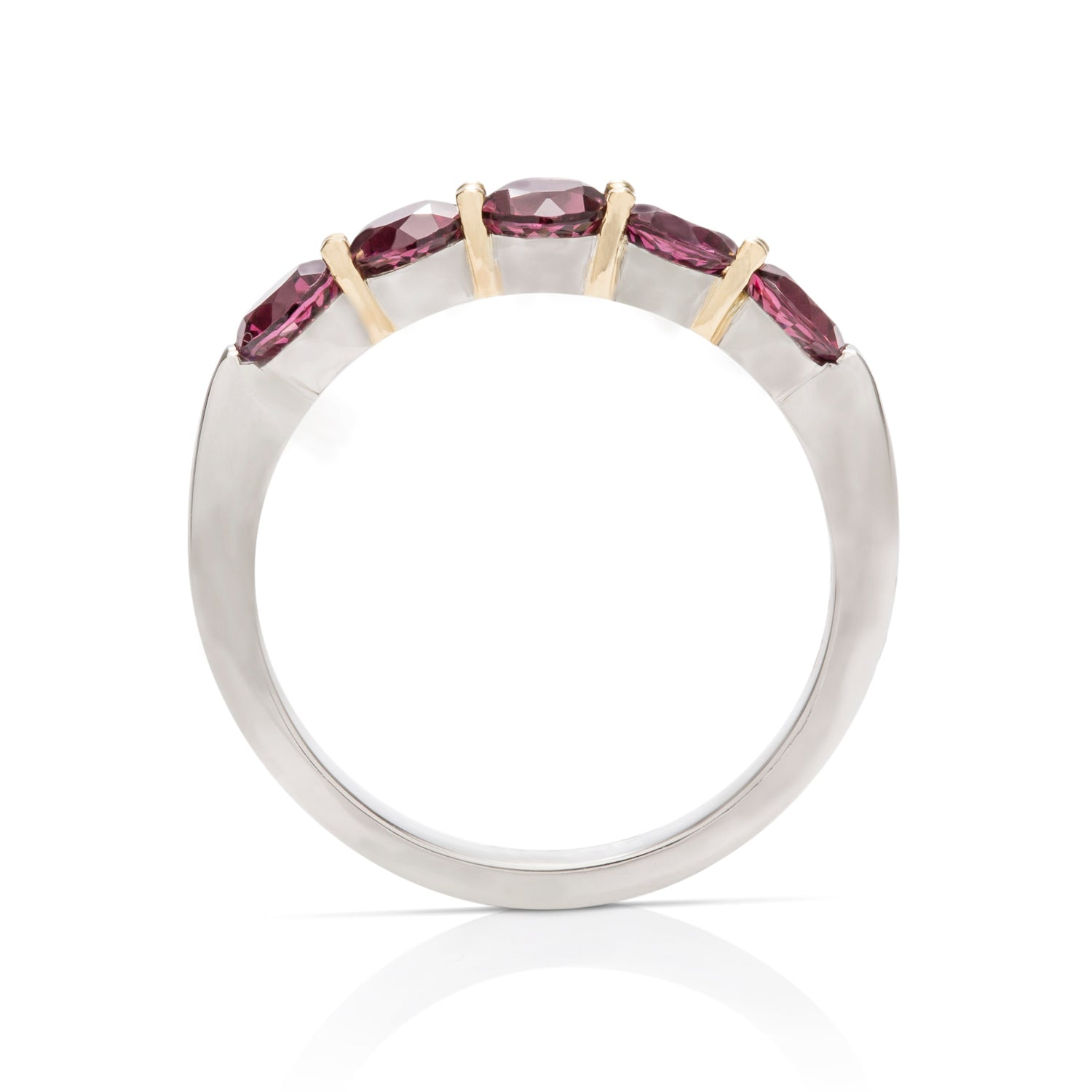 Rhodolite Garnet Platinum and Gold Ring - Charles Koll Jewellers