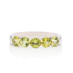 Peridot Platinum and Gold Ring - Charles Koll Jewellers