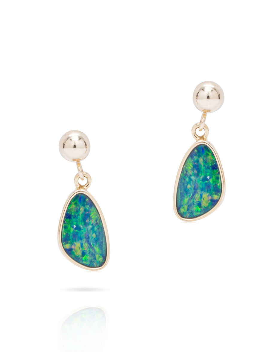 Australian Opal Drop Earrings - Charles Koll Jewellers