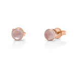 Chalcedony 18k Rose Gold Stud Earrings - Charles Koll Jewellers