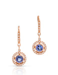 Tanzanite and Diamond Drop Earrings - Charles Koll Jewellers