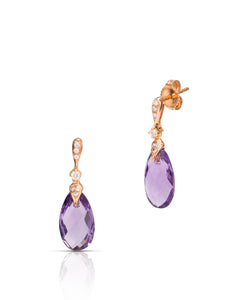 Diamond and Amethyst Earrings - Charles Koll Jewellers