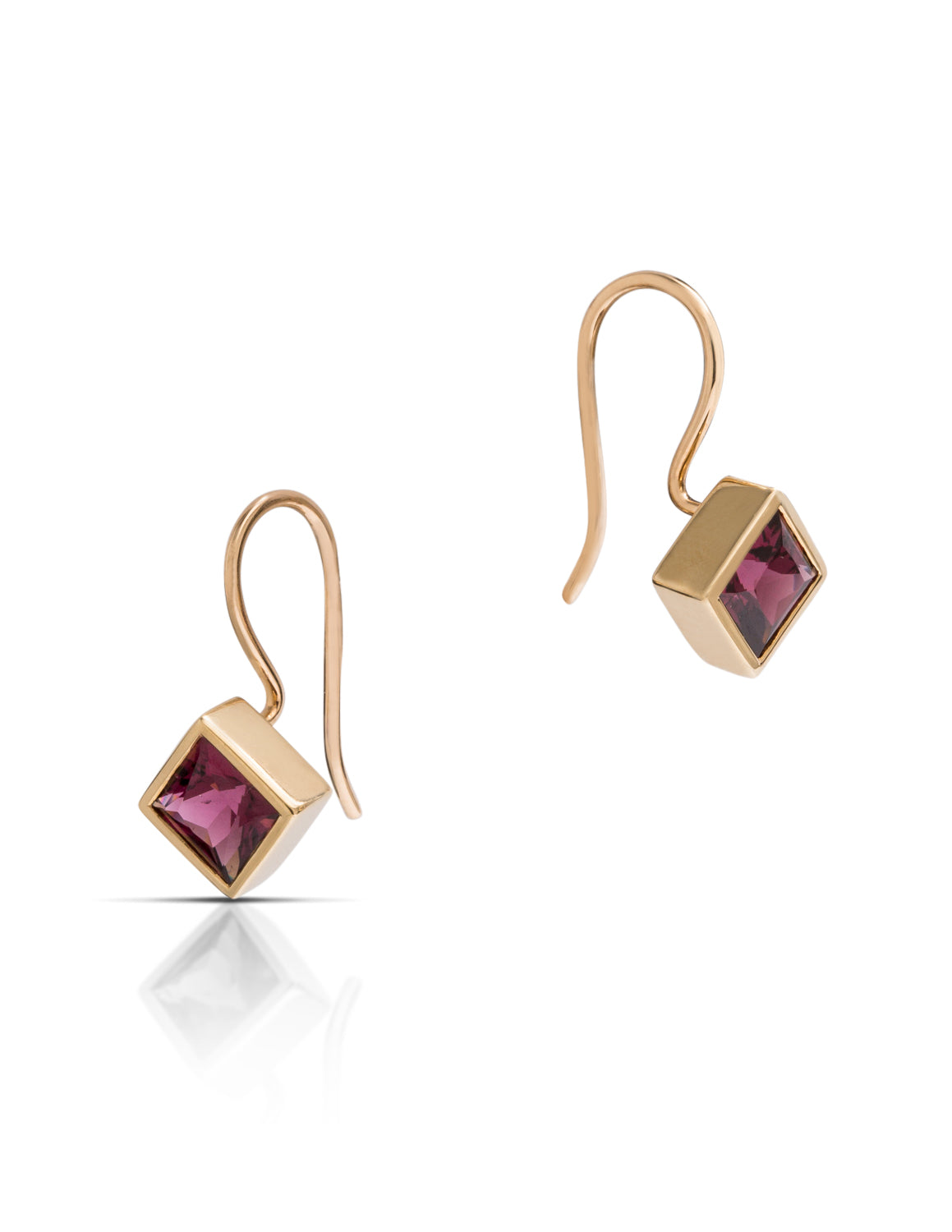 Rhodolite Garnet Earrings - Charles Koll Jewellers