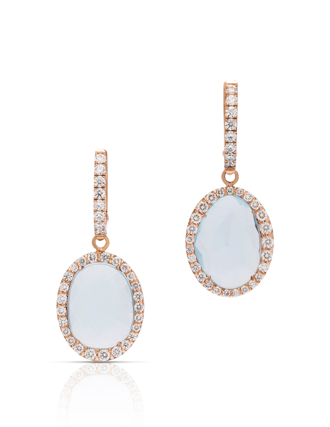 Aquamarine and Diamond Drop Earrings - Charles Koll Jewellers