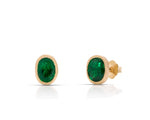 Oval Emerald Stud Earrings - Charles Koll Jewellers