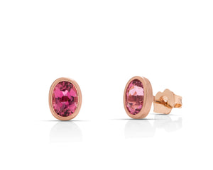Pink Tourmaline Stud Earrings - Charles Koll Jewellers