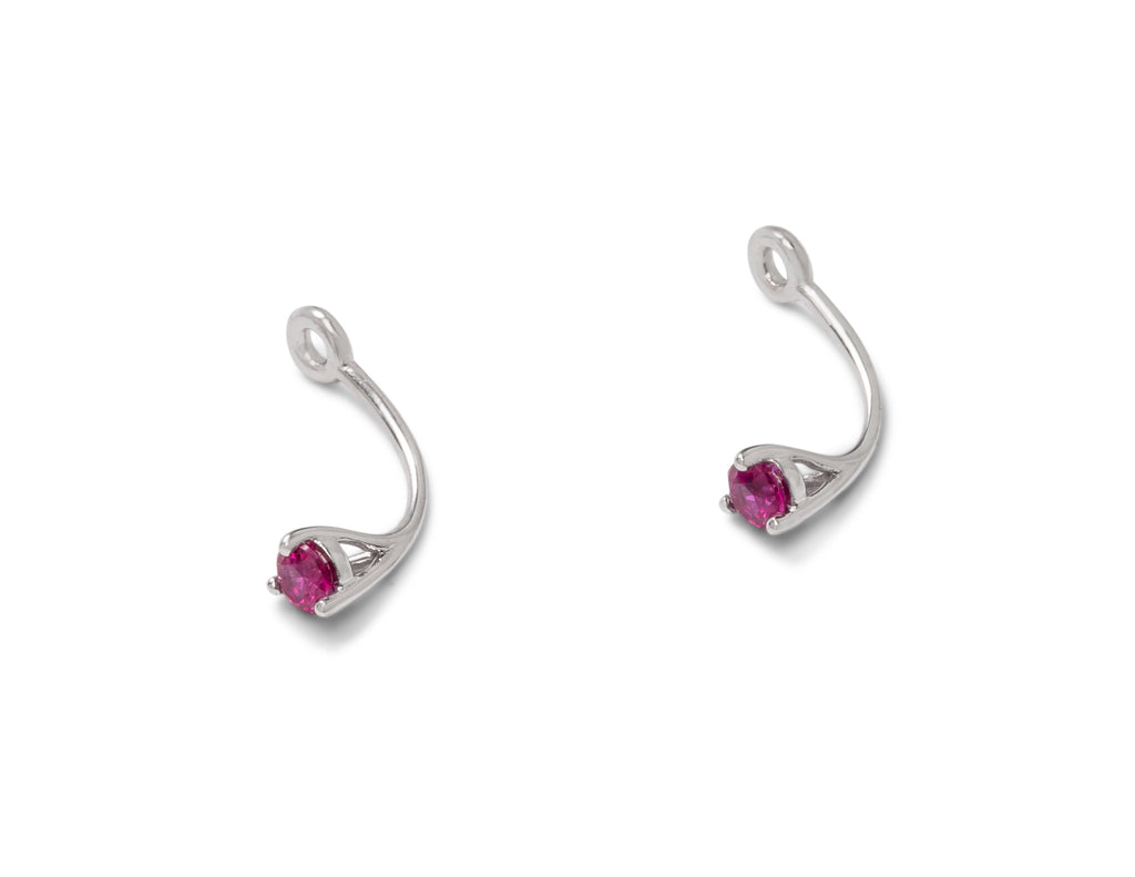 Ruby Drop Earring Jacket - Charles Koll Jewellers