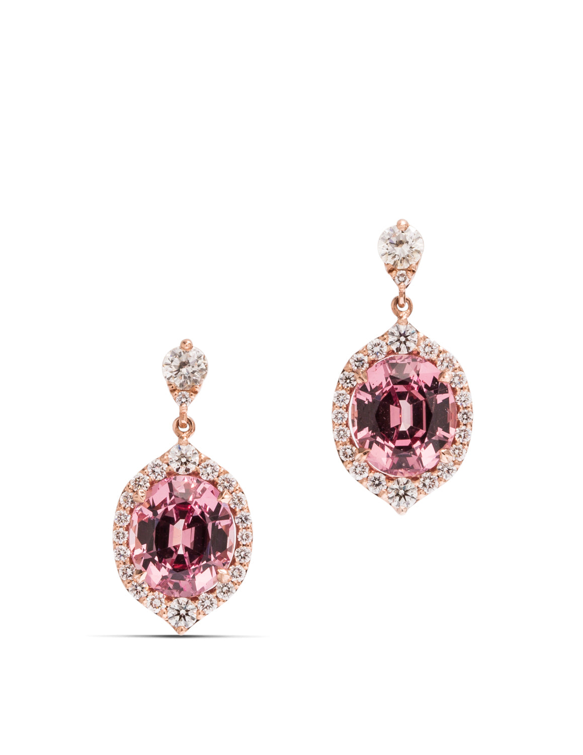 Lotus Garnet and Diamond Earrings - Charles Koll Jewellers