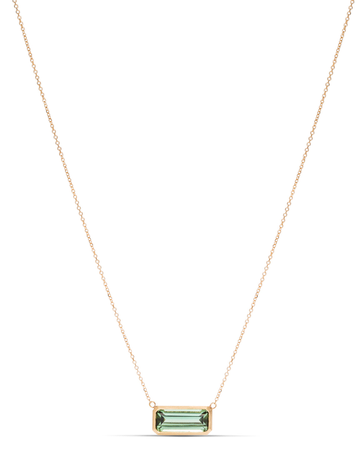 Tourmaline Bezel Necklace