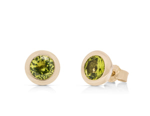 Peridot Golden Earrings - Charles Koll Jewellers