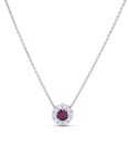 Diamond and Ruby Pendant - Charles Koll Jewellers