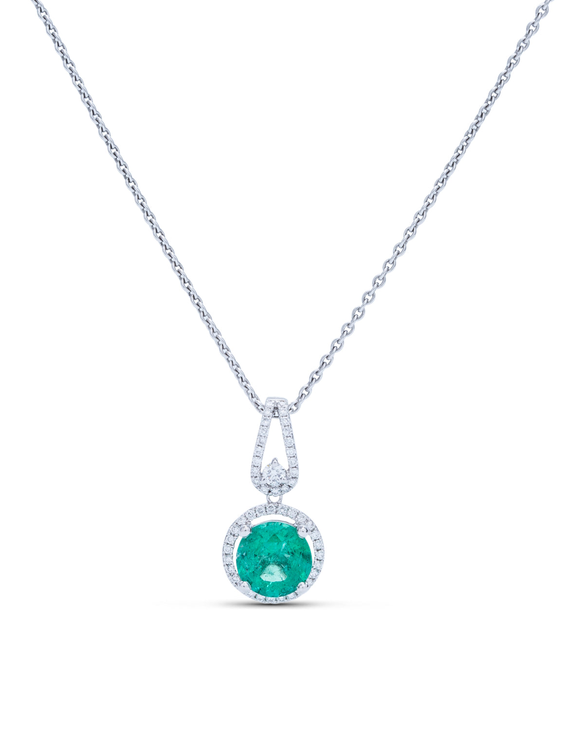 Emerald And Diamond Pendant - Charles Koll Jewellers