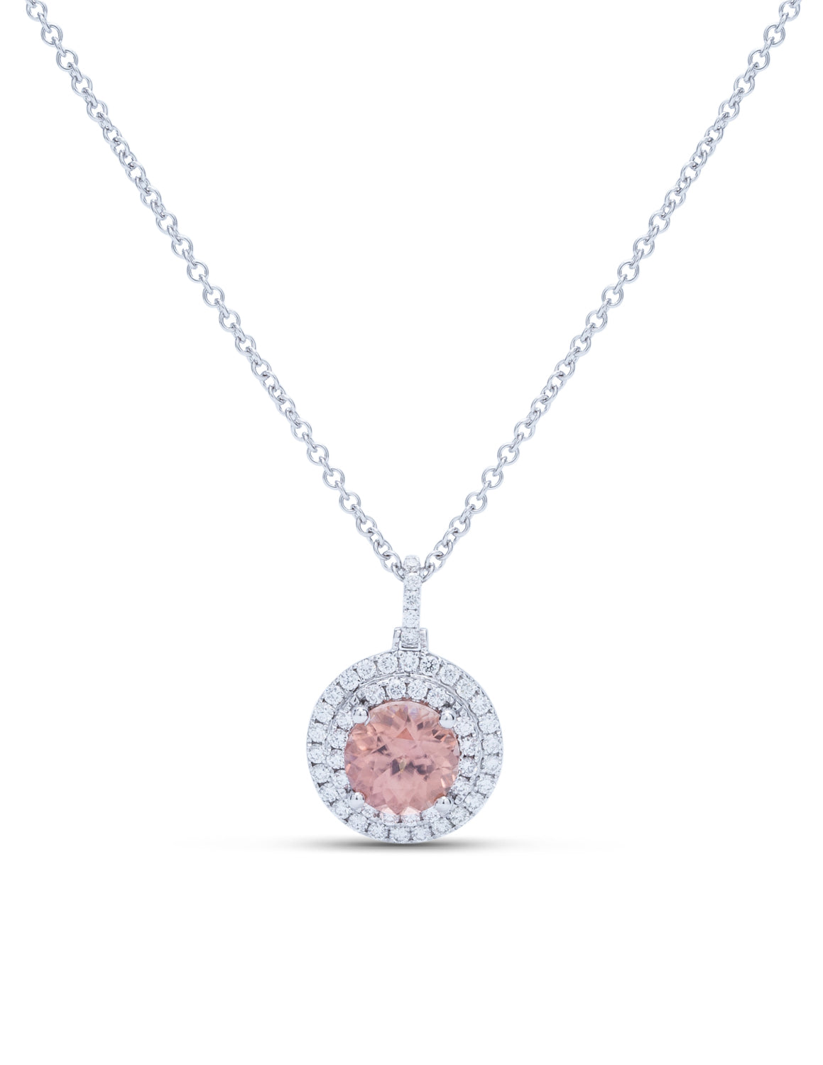 Zircon and Diamond Pendant - Charles Koll Jewellers