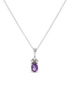 Amethyst and Diamond Pendant - Charles Koll Jewellers