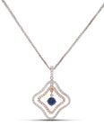 Two-Tone Dancing Sapphire Necklace - Charles Koll Jewellers