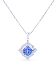 Tanzanite and Diamond Pendant - Charles Koll Jewellers