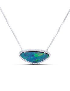 Opal and Diamond Pendant - Charles Koll Jewellers