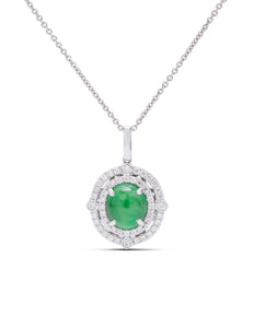 Diamond and Jade Pendant - Charles Koll Jewellers