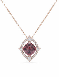Sunset Zircon and Diamond Pendant - Charles Koll Jewellers