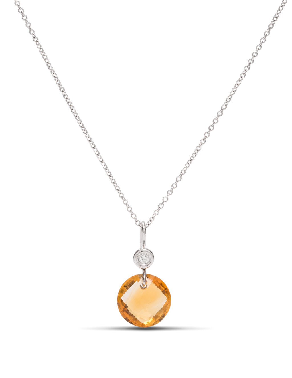 Citrine and Diamond Necklace - Charles Koll Jewellers