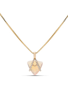 18k Gold Opal and Diamond Pendant - Charles Koll Jewellers
