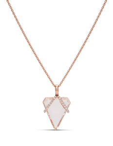 Morganite and Diamond Sling Pendant - Charles Koll Jewellers