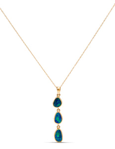 Australian Opal Dangle Necklace - Charles Koll Jewellers
