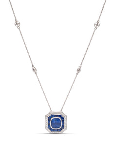 Diamond Sapphire Necklace - Charles Koll Jewellers