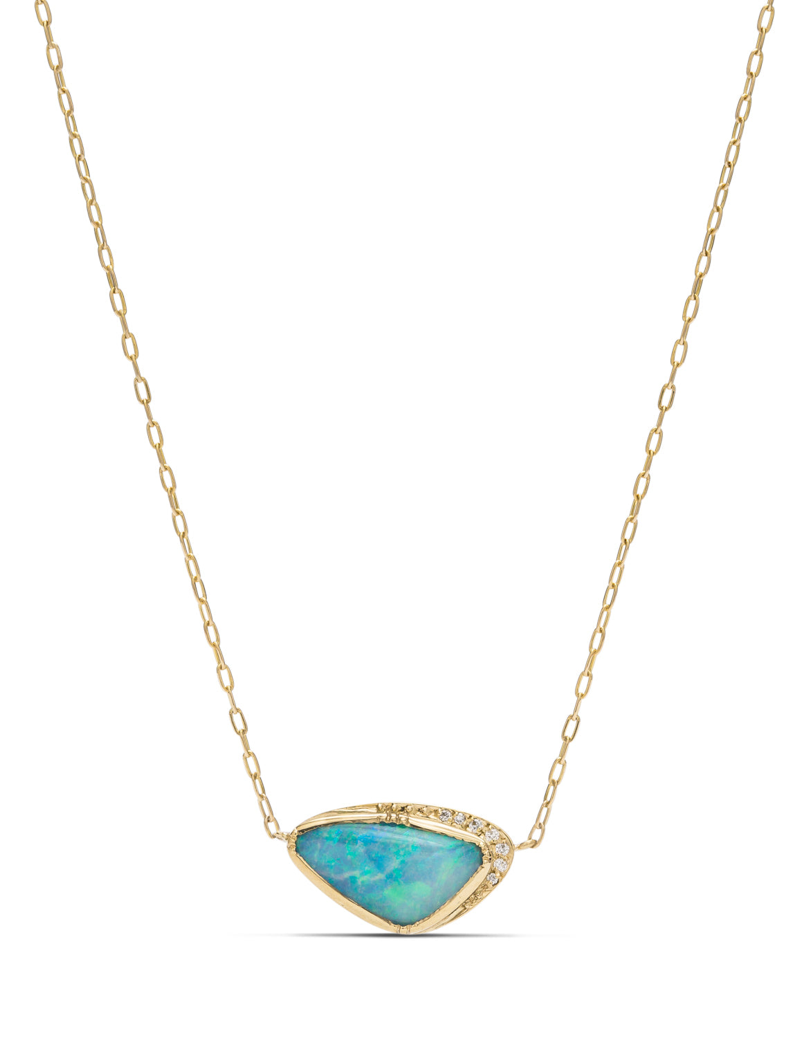 Boulder Opal and Diamond Pendant - Charles Koll Jewellers
